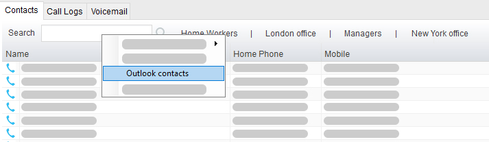 Reception - Outlook Contacts Search