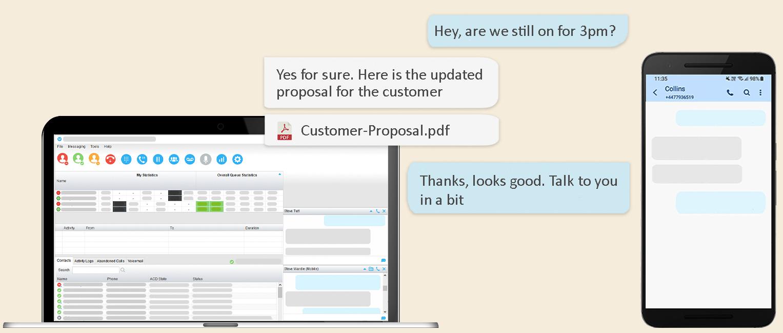 SMS integration for BroadSoft